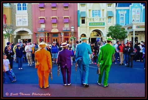 Dapper Dans singing on Main Street USA in the Magic Kingdom, Walt Disney World, Orlando, Florida