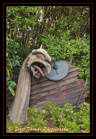 What's left of the Viking Ship in Epcot's Norway pavilion, Walt Disney World, Orlando, Florida