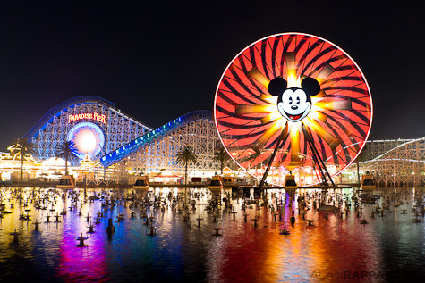 Paradise Pier at Disney California Adventure by Alan Rappaport, Disneyland, Anaheim, California.