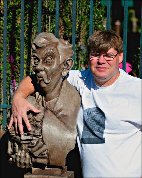 Scottwdw visiting the Haunted Mansion queue in the Magic Kingdom, Walt Disney World, Orlando, Florida