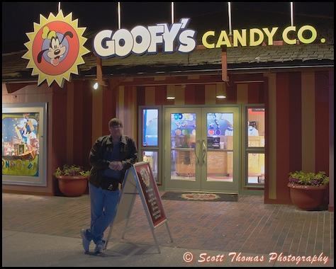 Self portrait of Scottwdw in front of Goofy's Candy Company in Downtown Disney, Walt Disney World, Orlando, Florida.