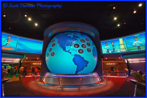 Project Tomorrow exhibit area in Spaceship Earth, Epcot, Walt Disney World, Orlando, Florida.