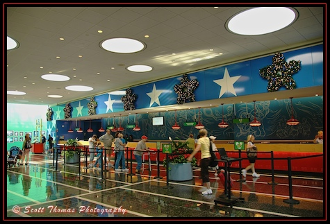 Checking in at the All-Star Sports Resort, Walt Disney World, Orlando, Florida