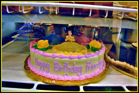 Princess Birthday Cake On Display In The Boardwalk Bakery Walt Disney World Orlando