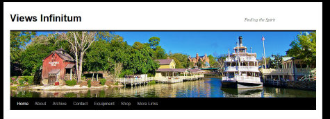 View of Tom Sawyer Island and Liberty Square in the Magic Kingdom, Walt Disney World, Orlando, Florida