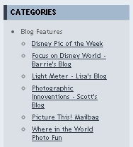 Featured sub-blogs in the AllEars.net Picture This! blog
