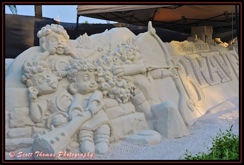 Brave Sand Sculpture in Epcot, Walt Disney World, Orlando, Florida