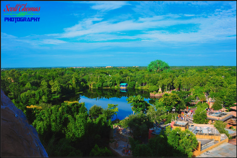 View from Expedition: EVEREST in Disney's Animal Kingdom, Walt Disney World, Orlando, Florida