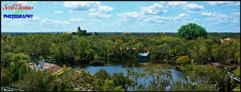 View of Disney's Animal Kingdom while riding Expedition: EVEREST, Walt Disney World, Orlando, Florida