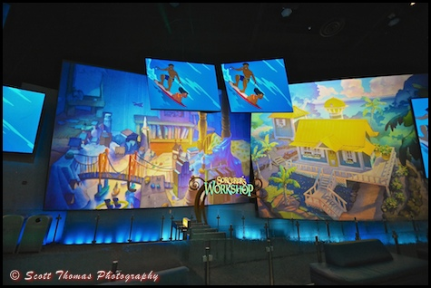 The Courtyeard Gallery inside the Disney Animation Building at Disney's California Adventure, Anaheim, California