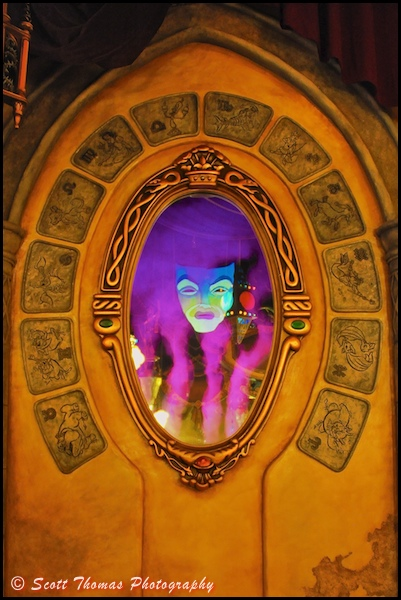 The Magic Mirror from Snow White inside the Disney Animation Building at Disney's California Adventure, Anaheim, California