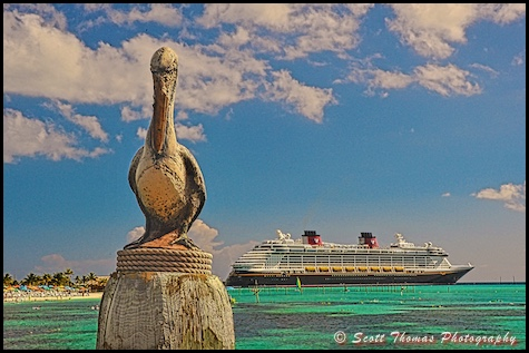 Disney Dream cruise ship docked at Castaway Cay, Bahamas