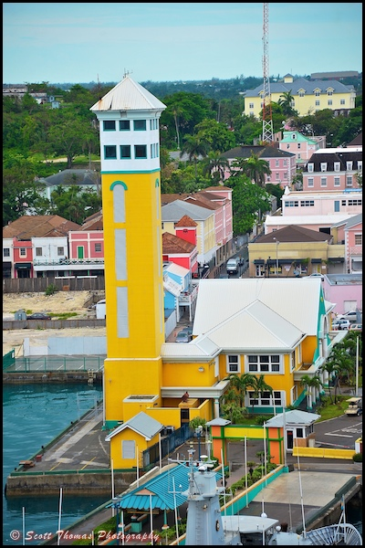 Harbor control tower in Nassau, Bahamas