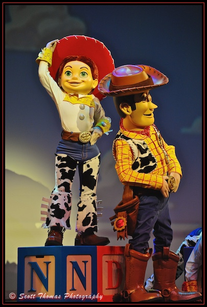 Woody and Jessie from Toy Story performing in the Walt Disney Theatre on the Disney Dream cruise ship
