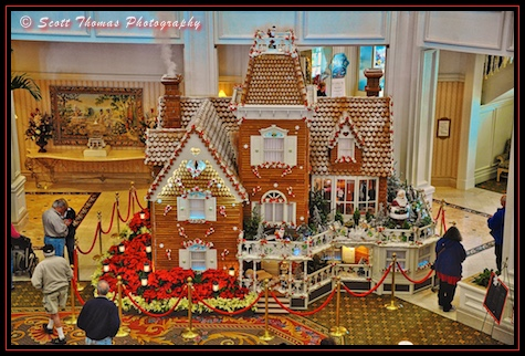 Ginger Bread House in the lobby of the Grand Floridian Resort, Walt Disney World, Orlando, Florida