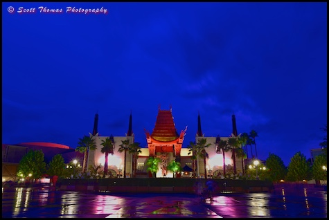 The Great Movie Ride at blue hour in Disney's Hollywood Studios, Walt Disney World, Orlando, Florida