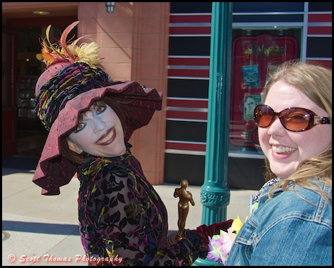 Hollywood Star Dorma Nesmond greets a fan at Disney's Hollywood Studios, Walt Disney World, Orlando, Florida