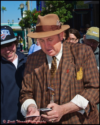 Talent Agent Jack Diamond performs card tricks at Disney's Hollywood Studios, Walt Disney World, Orlando, Florida