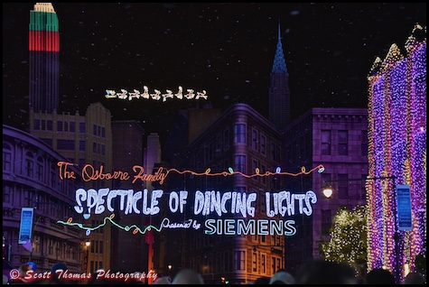 Osborne Family Spectacle of Dancing Lights on the Streets of America in Disney's Hollywood Studios, Walt Disney World, Orlando, Florida