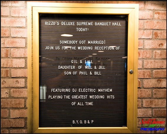 Schedule for Rizzo's Deluxe Supreme Banquet Hall upstairs at Pizzerizzo at Disney's Hollywood Studios, Walt Disney World, Orlando, Florida