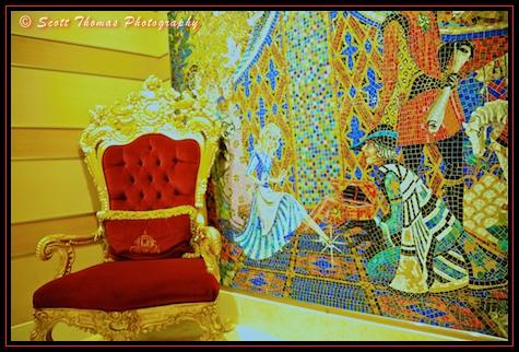 Cinderella mural on the Disney Dream cruise ship