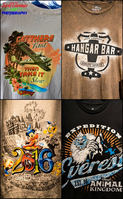 Adult Disney T-Shirts, Walt Disney World, Orlando, Florida