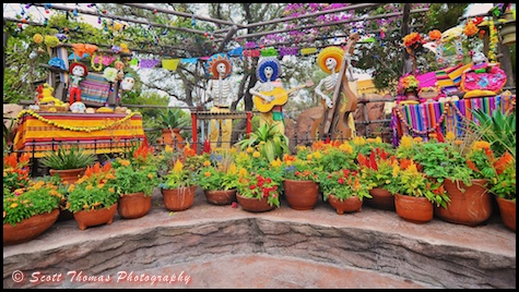 Day of the Dead decoration in Disneyland, Anaheim, California