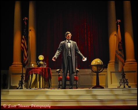 Great Moments with Mr. Lincoln on Main Street USA in Disneyland, Anaheim, California