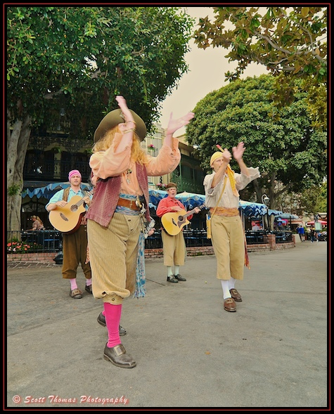 Bootstrappers performing in New Orleans Square, Disneyland, Anheim, California