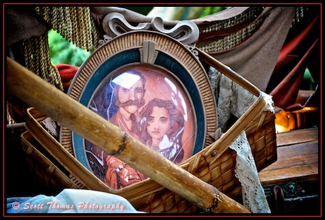 Broken portrait of Tarzan's human parents found in Adventureland, Disneyland, Anaheim, California
