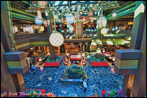 Lobby of the Polynesian Village Resort, Walt Disney World, Orlando, Florida