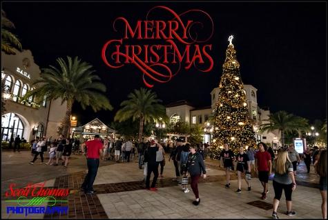 Christmas tree at Disney Springs, Walt Disney World, Orlando, Florida