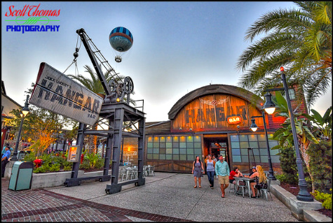 Jock Lindsey's Hangar Bar in Disney Springs edited in Macphun Intensify CK, Walt Disney World, Orlando, Florida