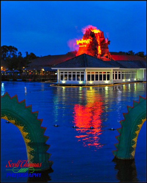 Rainforest Café volcano show at Disney Springs, Walt Disney World, Orlando, Florida