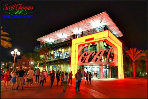 Coca-Cola Store at night in Disney Springs, Walt Disney World, Orlando, Florida