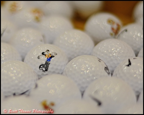 Mickey Mouse golf ball at the World of Disney store in Disney Springs, Walt Disney World, Orlando, Florida
