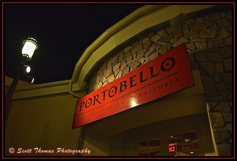 Portobello Country Italian Trattoria at Downtown Disney Marketplace, Walt Disney World, Orlando, Florida