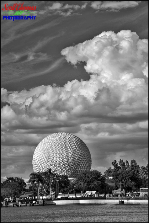 Spaceship Earth in Epcot, Walt Disney World, Orlando, Florida