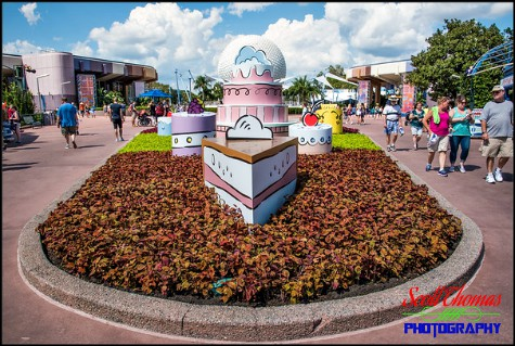 Cake decorations for the 2017 Food and Wine Festival at Epcot, Walt Disney World, Orlando, Florida