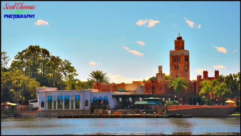 Morocco pavilion in Epcot's World Showcase, Walt Disney World, Orlando, Florida