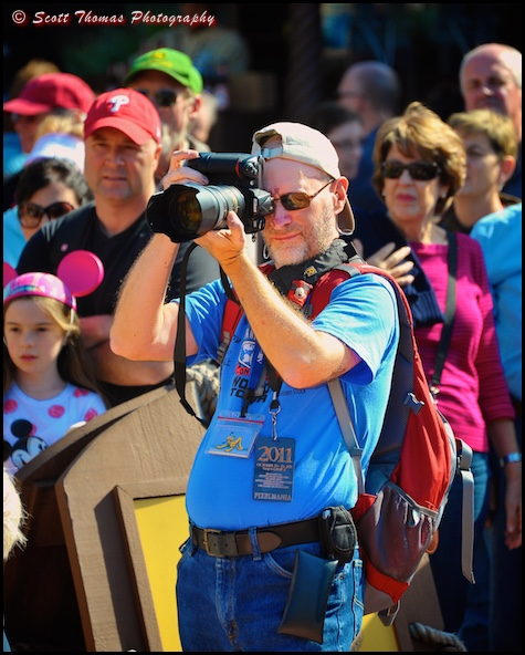 Photographer in Epcot, Walt Disney World, Orlando, Florida
