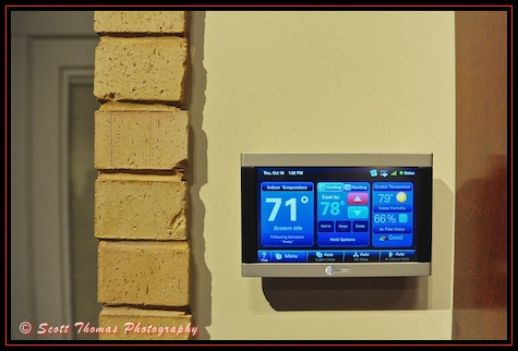 A Wi-Fi Digital Thermostat inside the Vision House exhibit at Epcot's Innoventions, Walt Disney World, Orlando, Florida