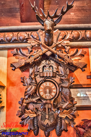 Coo Coo Clock for sale inside Der Bucherwurm store in the Germany pavilion in Epcot's World Showcase, Walt Disney World, Orlando, Florida