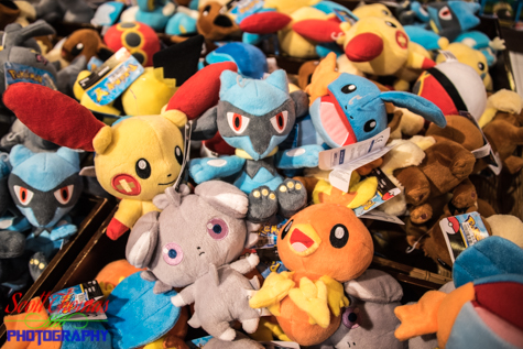 Pokemon plush toys for sale inside the Mitsukoshi Department Store in the Japan pavilion at Epcot's World Showcase, Walt Disney World, Orlando, Florida