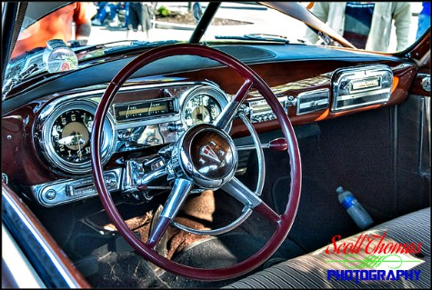 Dashboard of a 1951 Hudson Hornet photographed near Syracuse, New York