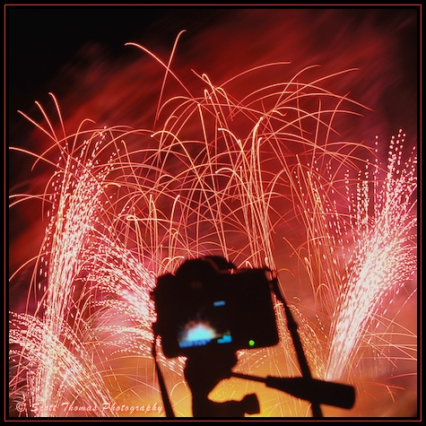 Illuminations camera at Epcot's World Showcase, Walt Disney World Resort, Orlando, Florida
