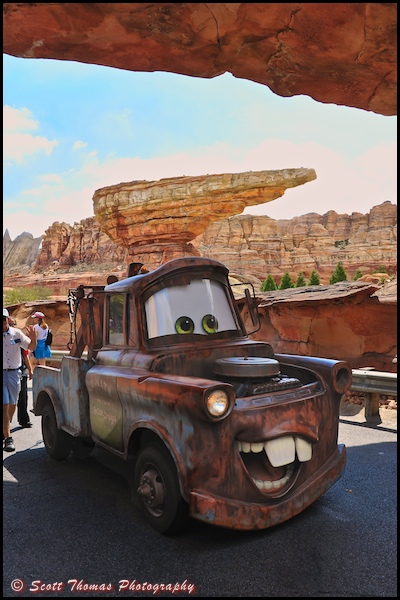 Mater from the movie, Cars, Disney's California Adventure, Anaheim, California