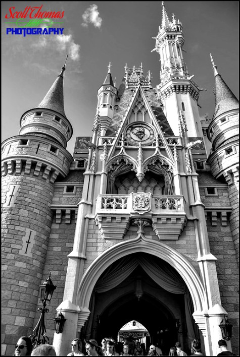 Cinderella Castle in the Magic Kingdom, Walt Disney World, Orlando, Florida