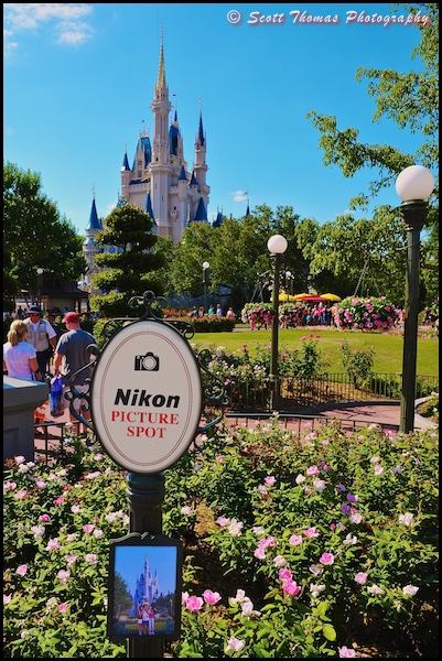 Nikon Picture Spot for Cinderella Castle in the Magic Kingdom, Walt Disney World, Orlando, Florida
