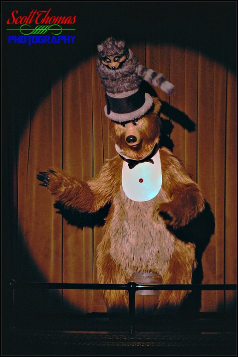 Henry is the Master of Ceremonies of the Country Bear Jamboree show in Frontierland at the Magic Kingdom, Walt Disney World, Orlando, Florida